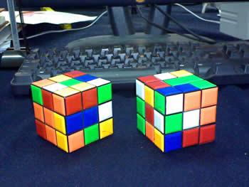 2 Cubos desarmados