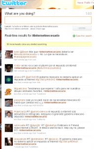 Twitter #InternetNecesario
